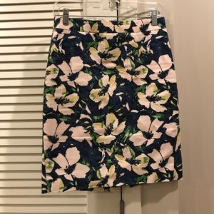 J. Crew floral pencil skirt